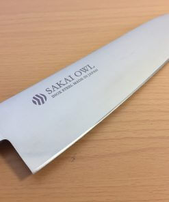 Japanese knife made in Sakai, Santoku stainless steel