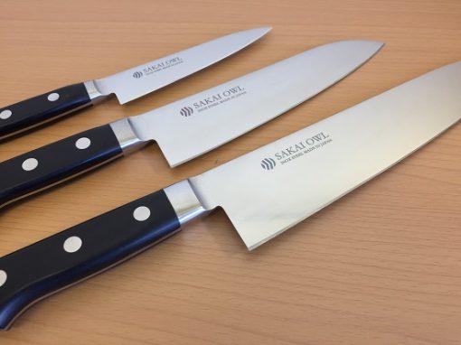 made in Sakai stainless steel Japanese knife series