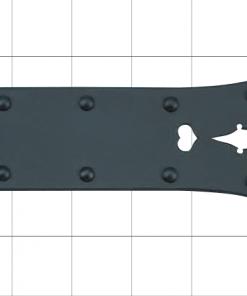 traditional ninja hardware, forged decor plate