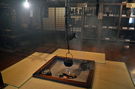 irori stove in traditional living room
