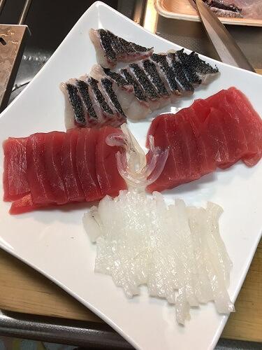 sashimi cut by myself