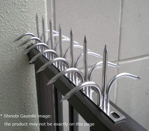 traditional ninja hardware, shinobi gayeshi, example of installation
