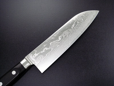 kitchen knife made of steel