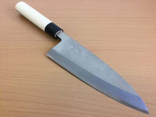 Japanese kitchen knife made in Sakai, deba
