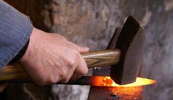 forging knife blade