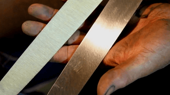 buffing in japanese knife making process