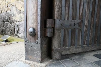 details of 1st gate of Himeji Castle