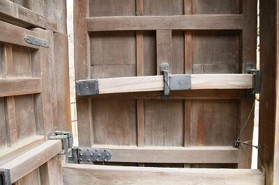 details of 2nd gate of Himeji Castle and Ninja Hardware