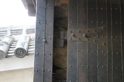 details of 3rd gate of Himeji Castle and Ninja Hardware