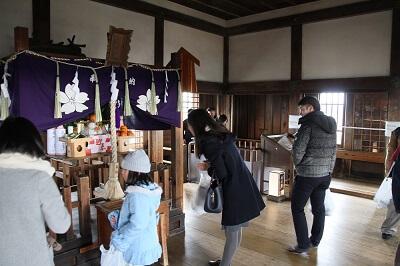 top floor of Himeji Castle