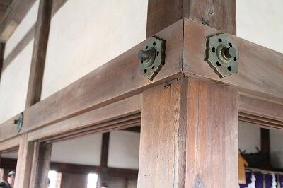 top floor of Himeji Castle and Ninja Hardware