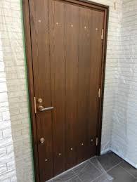 Ninja style decoration tacks on a door