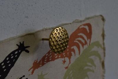 Ninja style decoration tacks used as a wall pin
