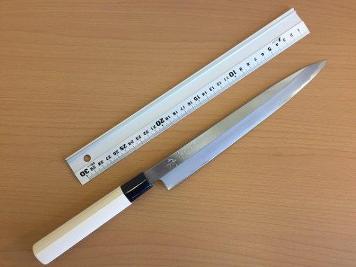 Japanese kitchen knife for Sashimi made in Sakai, Yanagiba