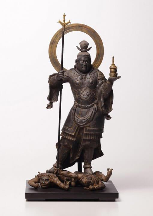 Buddha Statue for sale, Bishamonten, entire view