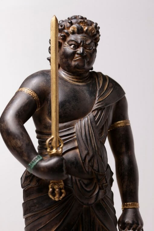 Buddha Statue for sale, Acala / Fudo Myo-oh, zooming up to the bust