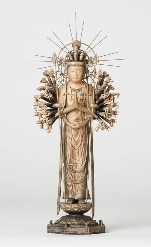 Buddha Statue for sale, 1000-armed Kannon front view