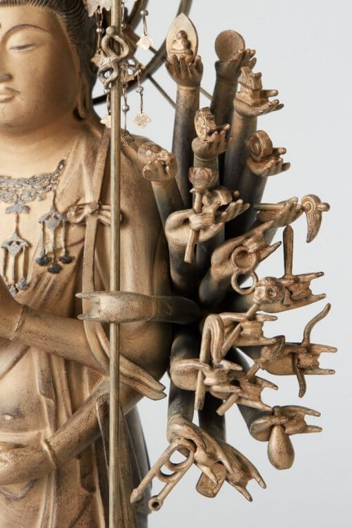Buddha Statue for sale, 1000-armed Kannon, zooming up of 1000-left arms