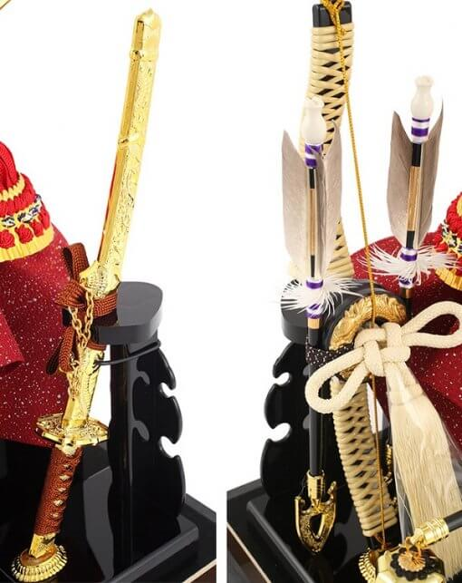 samurai helmet for sale, Kenshin Uesugi - Suiwn gold model, accessories sword and bow