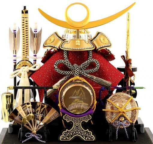 samurai helmet for sale, Kenshin Uesugi - Suiwn gold model, front view without wallpaper