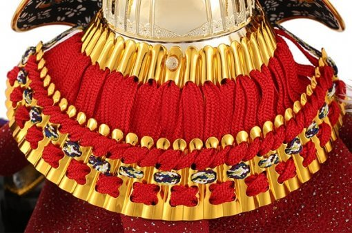 samurai helmet for sale, Kenshin Uesugi - Suiwn gold model, back side view