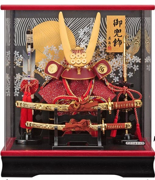 samurai helmet for sale, Yukimura Sanada model, in case view