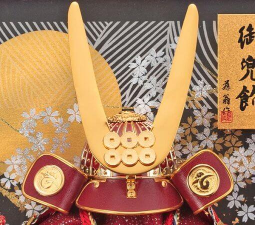 samurai helmet for sale, Yukimura Sanada model, zooming up to crest and wall paper