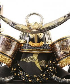Samurai helmet for sale, Kenshin Uesugi model, details of helmet and accessories