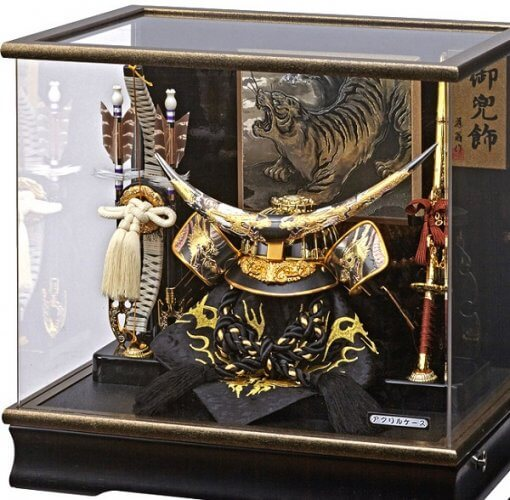 samurai helmet for sale, Masamune Date - Shoryu model, in case view