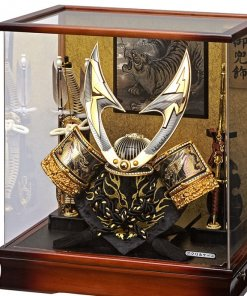 Samurai helmet for sale, Inazuma model, in case view