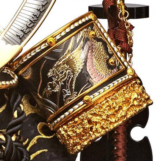 Samurai helmet for sale, Inazuma model, zooming up to Fukikaeshi