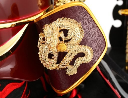 samurai helmet for sale, Sanada, zoom up of Fukikaeshi