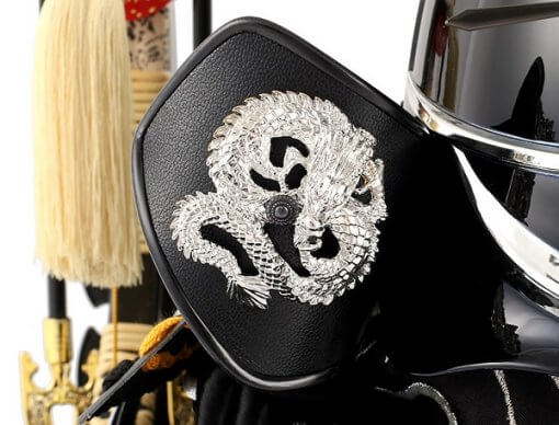 samurai helmet for sale, Nobunaga Oda model, dragon on side skirts called Fukikaeshi