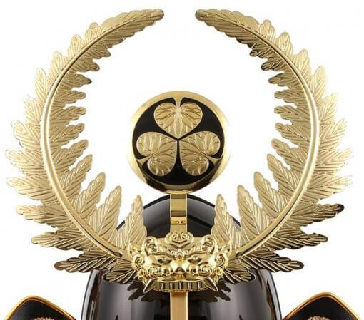 samurai helmet for sale, Ieyasu Tokugawa, zooming up to crest