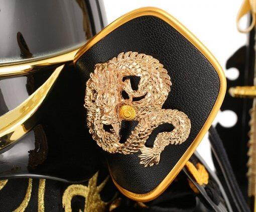 samurai helmet for sale, Ieyasu Tokugawa, zooming up to Fukikaeshi