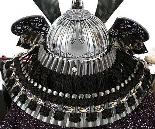 Samurai helmet for sale, Kobu model, back side view
