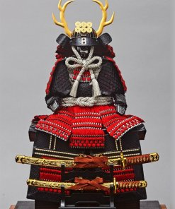 samurai armor for sale, Yukimura Sanada model, entire look with grey background