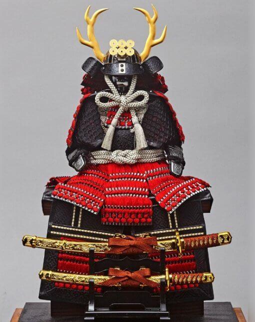 samurai armor for sale, Yukimura Sanada model, entire look with grey background