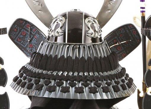 samurai helmet for sale, falcon silver model, back side view