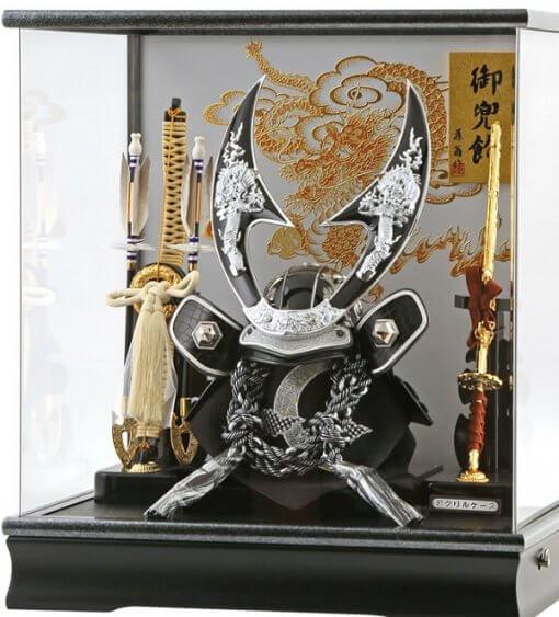 Samurai helmet for sale, falcon silver model, in case style
