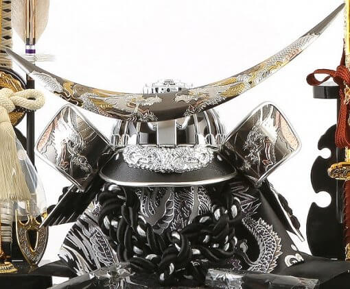 samurai helmet for sale, Masamune Date - Hokuto model, details of helmet decoration