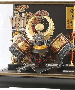 samurai helmet for sale, Ieyasu Tokugawa - Sekiryu model, in case view