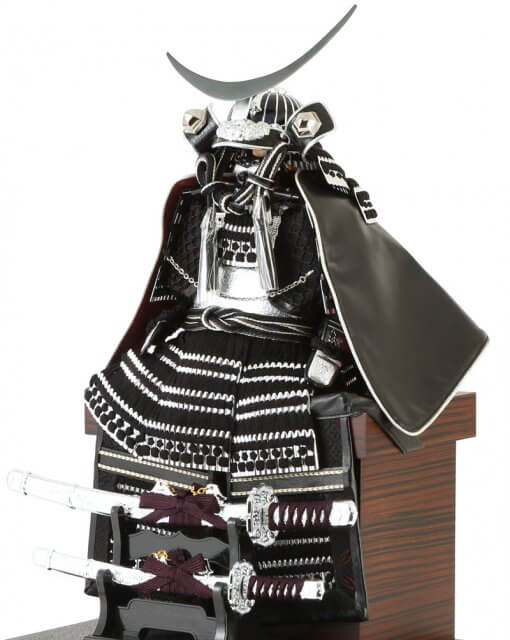 samurai armor Masamune Date model, armor details with Samurai swords