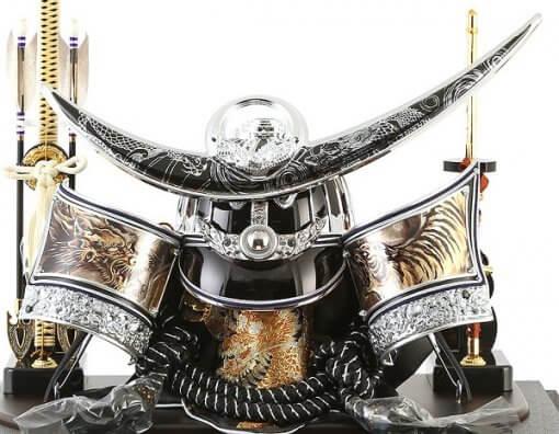 Samurai helmet for sale, Kenshin Uesugi - Kurama model, details of helmet and accessories