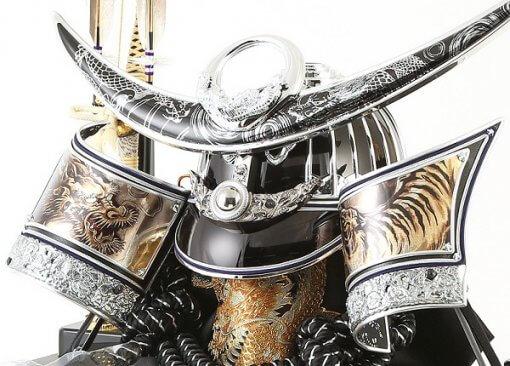 Samurai helmet for sale, Kenshin Uesugi - Kurama model, details from left front view