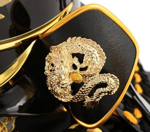 samurai helmet for sale, zoom up dragon detail