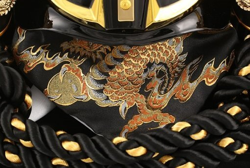 samurai helmet for sale, dragon embroidery