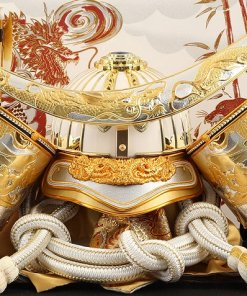 samurai helmet for sale, Masamune Date model, details of helmet front side