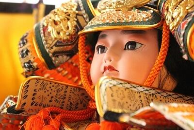 samurai armor display of children's day