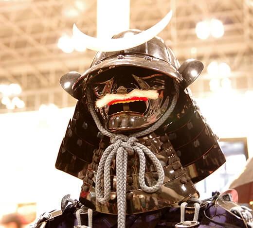 ancient real samurai helmet